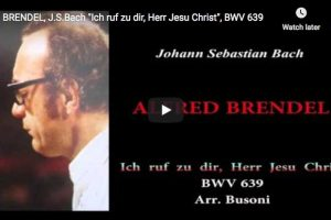 Bach-Busoni – Chorale Prelude in F Minor – Brendel, Piano