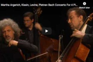 Bach - Concerto For 4 Keyboards - Argerich, Levine, Kissin, Pletnev