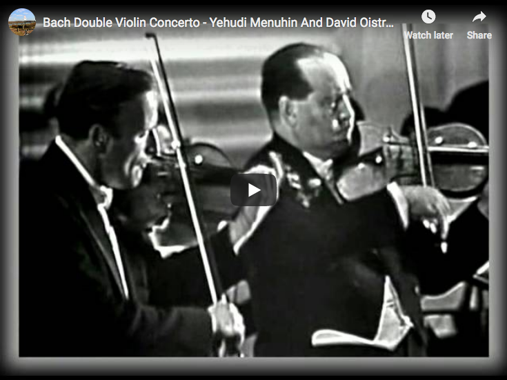 David Oistrakh and Yehudi Menuhin perform Bach's Double Violin Concerto in D minor