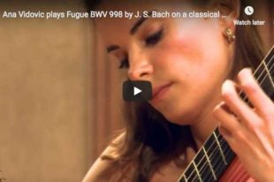 Bach - Prelude, Fugue and Allegro BWV 998 - Vidovic, Guitar