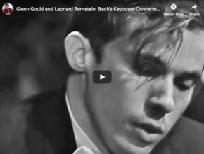 Glenn Gould, piano, and Leonard Bernstein, conductor, perform Bach first harpsichord concerto in D minor