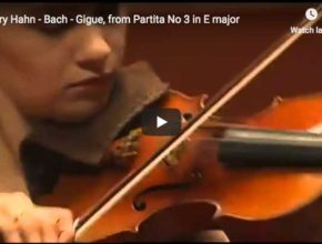 The violinist Hilary Harh performs Bach's Gigue from his Partita No. 3 in E major
