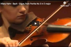 Bach – Partita No. 3 – 6. Gigue – Hahn, Violin