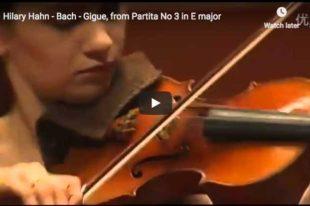 Bach - Partita No 3 in E major - 6. Gigue - Hahn, Violin