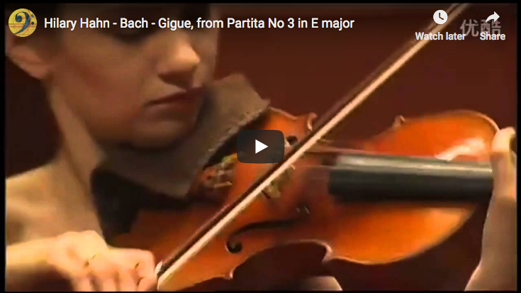 Bach - Partita No 3 in E major - 6. Gigue - Hahn, Violin