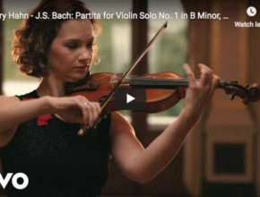 Hilary Hahn performs the 4th and last movement from J.S. Bach's Partita No. 1 in B minor for violin