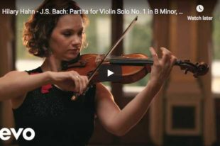 Bach - Partita for Violin No 1 - 4. Double - Hahn