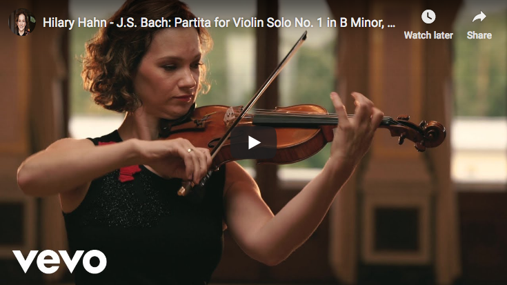 Bach - Partita for Violin No 1 in B minor - 4. Double - Hahn