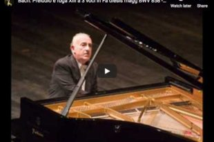 Bach - Prelude and Fugue XIII, Book I - Pollini, Piano