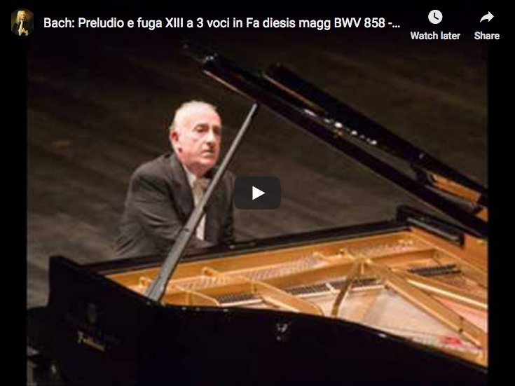 Bach – Prelude and Fugue XIII, Book I – Pollini, Piano