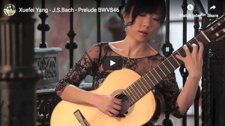 The Chinese guitarist Xuefei Yang performs Bach's Prelude in C major from the first book of The Well-Tempered Clavier