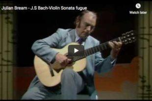 Bach - Sonata No 1 in G Minor, BWV 1001 (fuga) - Bream, Guitar
