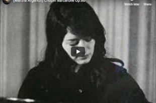 Chopin - Barcarolle - Martha Argerich, Piano