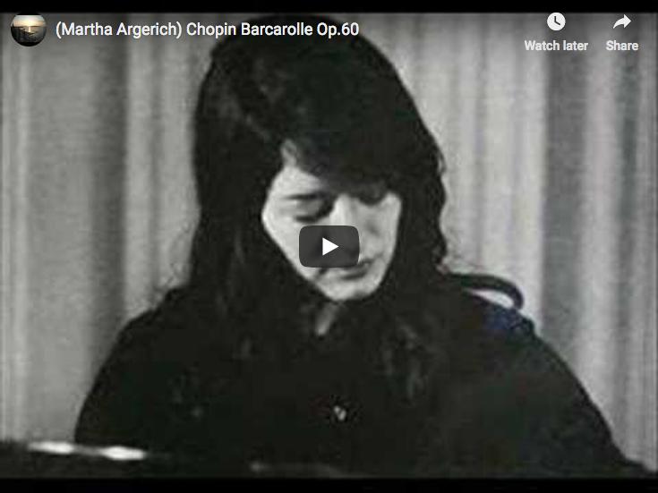 Barcarolle Wikipedia >> Chopin Barcarolle In F Sharp Major Argerich Piano