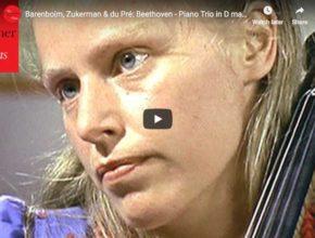 Daniel Barenboim, Pinchas Zukerman, and Jacqueline du Pré perform Beethoven's Ghost Trio for piano, violin and cello