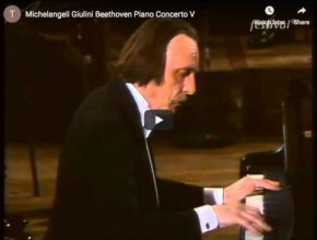 The Italian pianist Arturo Benedetti Michelangeli plays Beethoven's Concerto for piano No. 5