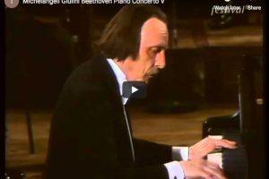 Beethoven – Piano Concerto No. 5 – Brendel, Michelangeli, Pollini