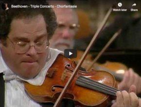 Itzhak Perlman, Daniel Barenboim and Yo-Yo Ma play Beethoven's triple concerto for violin, piano and cello