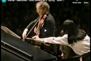Beethoven – Violin Sonata No 5 – Kremer, Violin; Argerich, Piano