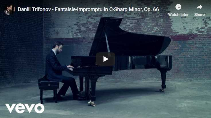 Daniil Trifonov performs Chopin's Fantaisie-Impromptu for piano in C-sharp minor