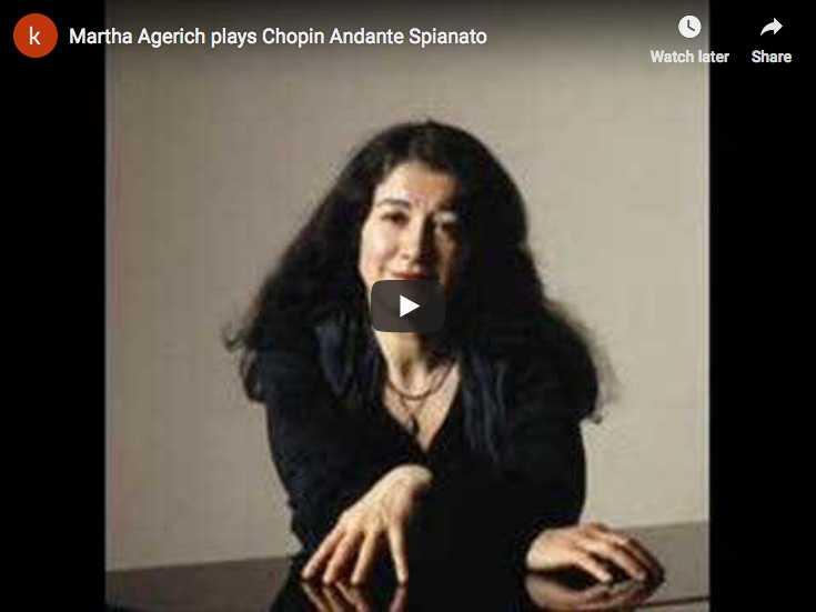 Martha Argerich plays Chopin's Andante Spianato
