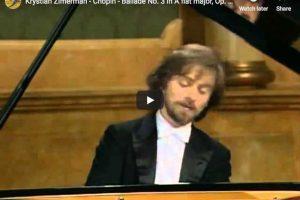 Chopin – Ballade No 3 – Zimerman, Piano