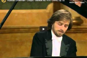 Chopin – Ballade No 4 in F Minor – Zimerman, Piano