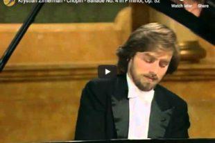 Chopin - Ballade No 4 in F Minor - Zimerman, Piano
