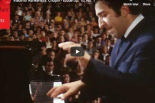 Chopin - Etude Op. 10 No. 1 - Ashkenazy, Piano