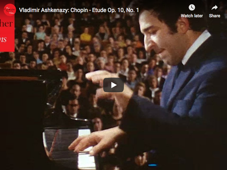 Chopin - Etude Op  10, No  1 in C major - Ashkenazy, Piano