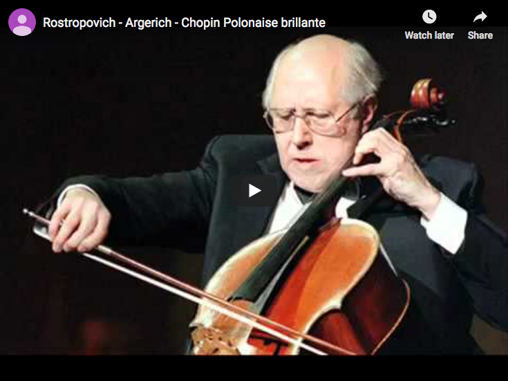 Martha Argerich and Mstislav Rostropovich play Chopin's Introduction and Polonaise brillante for piano and cello