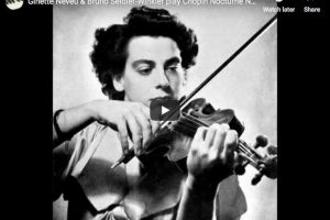 Chopin – Nocturne No 20 – Neveu, Violin; Seidler-Winkler, Piano