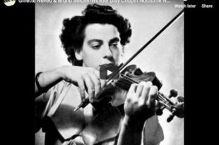 Chopin - Nocturne No 20 - Neveu, Violin; Seidler-Winkler, Piano