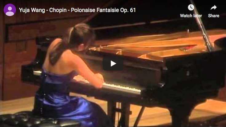 Yuja Wang performs Chopin's Polonaise Fantaisie in A-flat major