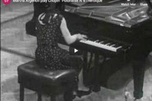 Polonaise Héroïque No. 6 (Chopin) – Martha Argerich, Piano