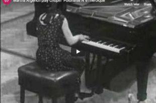 Polonaise Héroïque No. 6 (Chopin) - Martha Argerich, Piano