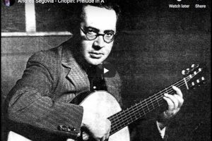 Chopin – Prelude No. 7 – Andres Segovia, Guitar