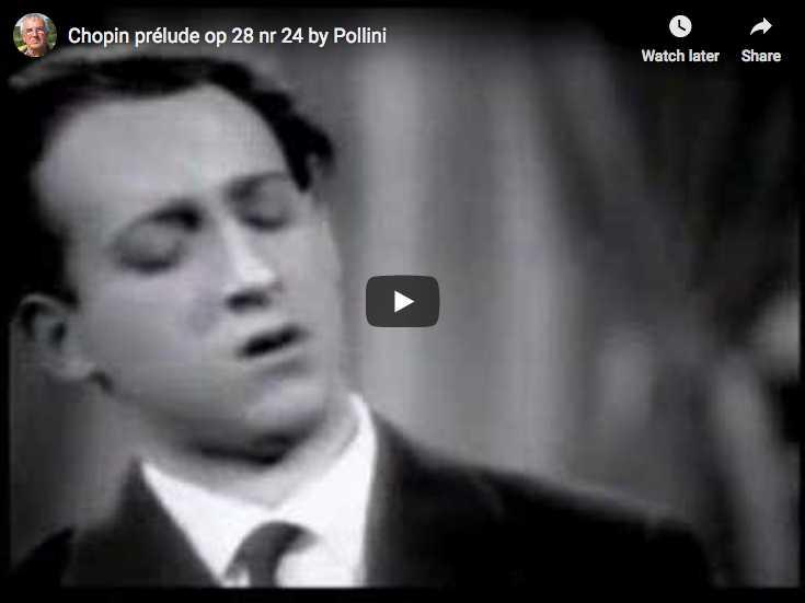 The Italian pianist Maurizio Pollini plays Chopin's Prelude No. 24 in D minor