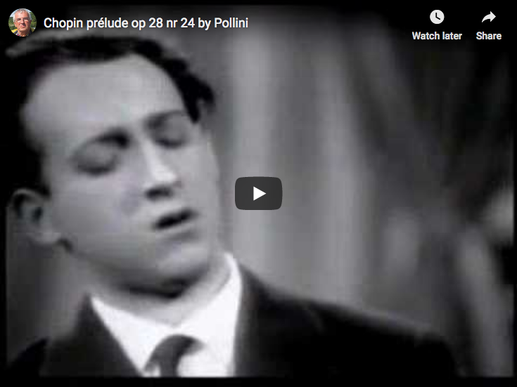 Chopin – Prelude Op. 28 No. 24 in D minor – Pollini, Piano