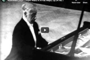 Chopin – Waltz No 2 in A-Flat Major – Rubinstein, Piano
