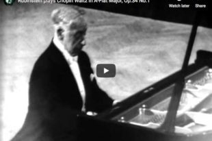 Chopin - Waltz No 2 in A-Flat Major - Rubinstein, Piano