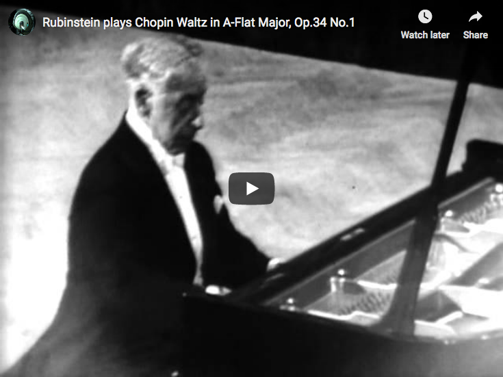 Chopin – Waltz in A-flat major, Op. 34 No. 1 – Rubinstein, Piano