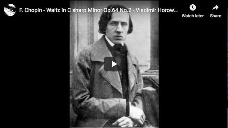 Vladimir Horowitz plays Chopin's Waltz No 7 in C-sharp minor