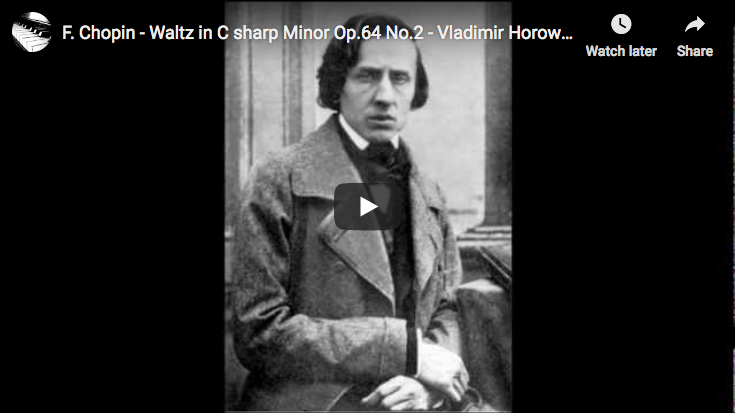 Chopin - Waltz in C-sharp Minor Op. 64 No. 2 - Horowitz, Piano