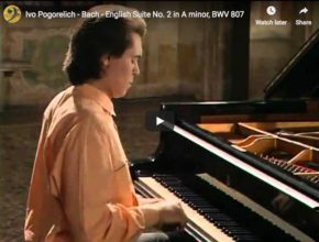 The pianist Ivo Pogorelich plays Bach's English Suite No. 2 in A minor