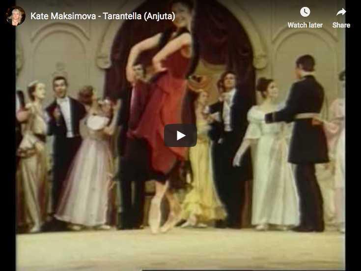 Ekaterina Maximova dances the Tarantella from Gavrilin's ballet, Anyuta
