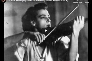 Gluck – Dance of the Blessed Spirits – Neveu, Violin