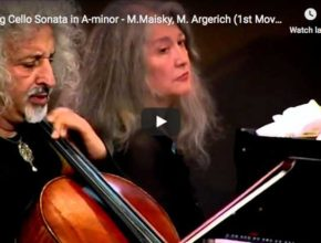 Maisky and Argerich play Grieg's Cello sonata in A minor