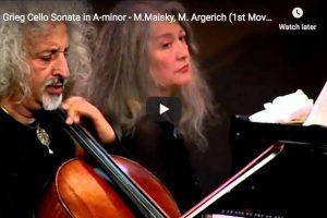 Grieg – Cello Sonata – Maisky, Cello; Argerich, Piano