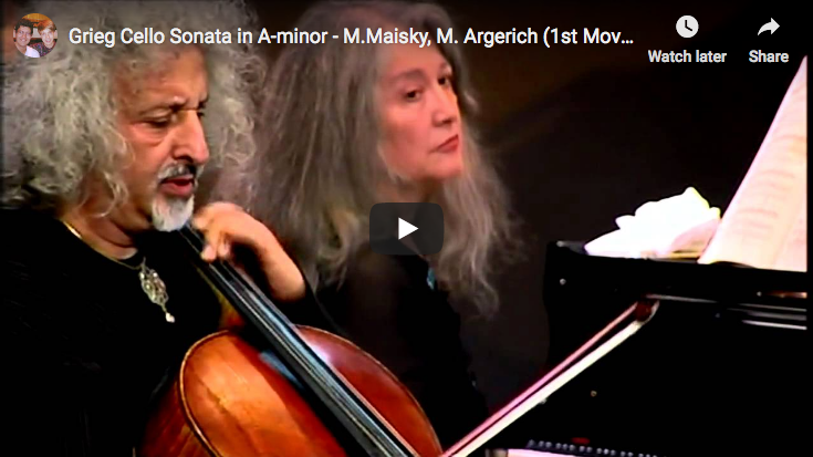 Grieg - Cello Sonata in A Minor - Maisky, Cello; Argerich, Piano